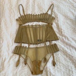 La Perla Intimates & Sleepwear - Gold 3 Piece Set by La Perla